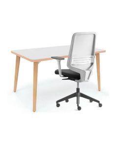 Pack mesa de teletrabajo Timber y silla dot.home de Forma 5