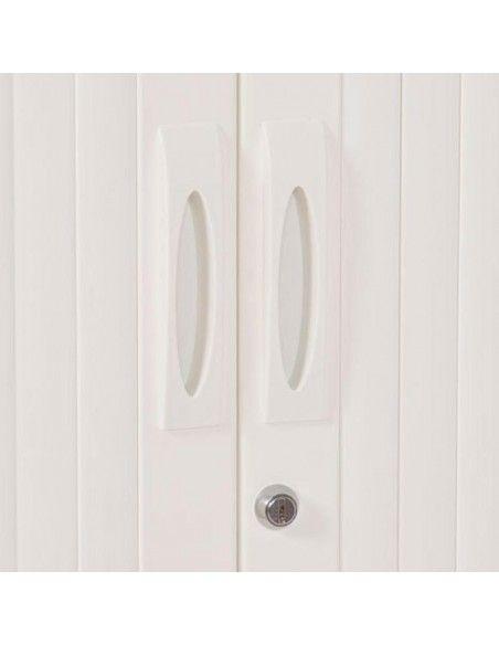 Detalle tirador y cerradura armario oficina metálico persiana vertical de Gapsa