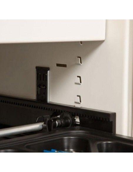 Detalle bastidor telescópico para armario oficina metálico persiana vertical de Gapsa color