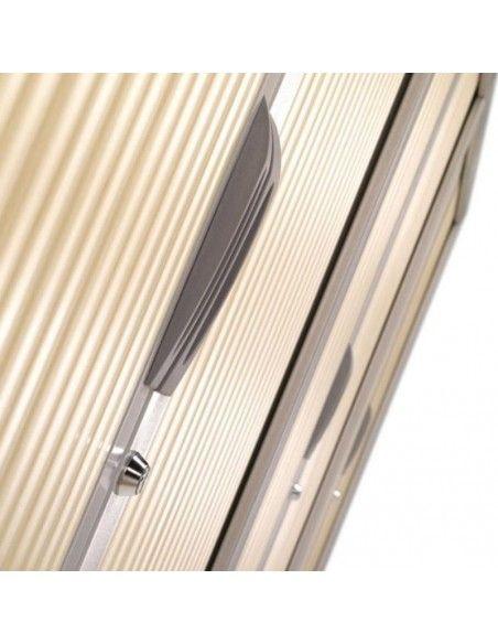 Detalle persiana de armario oficina metálico persiana vertical de Gapsa color gris