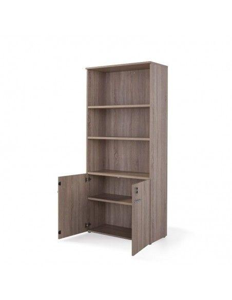 armario alto con estantes color olmo claro de jgorbe