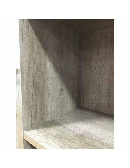 interior del armario alto con puertas bajas