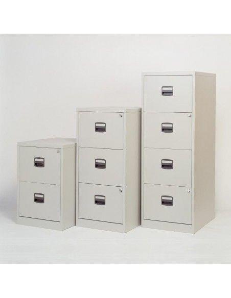 Archivadores metálicos varios cajones de Bisley en color blanco