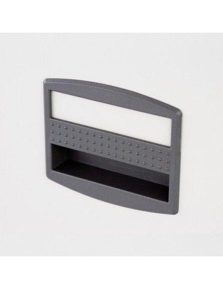 Detalle tirador archivadores metálicos varios cajones de Bisley en color blanco