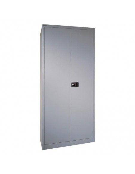 Armario metálico puertas abatibles con 3 estantes de Gapsa en plata