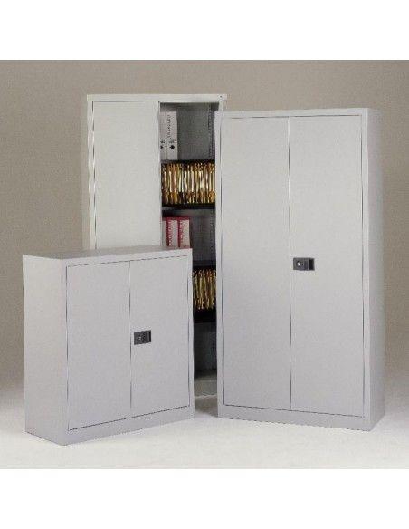 Armario de puertas abatibles con 3 estantes la oficina - Armarios con puertas abatibles ...