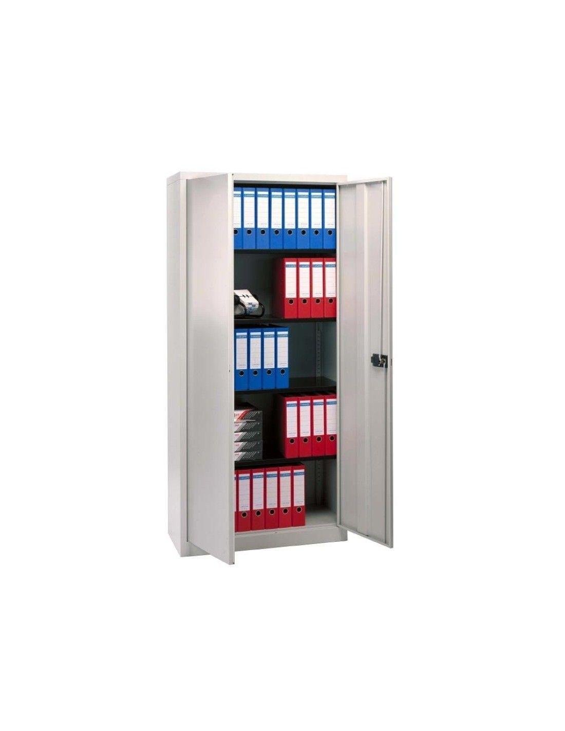 Armario de puertas abatibles con 4 estantes la oficina - Armarios con puertas abatibles ...