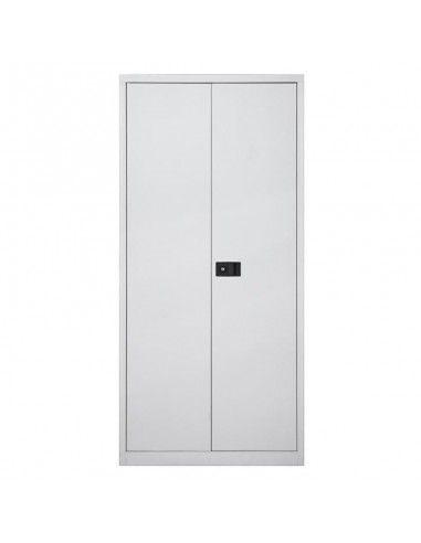 Armario oficina metálico de puertas abatibles con 4 estantes de Gapsa en color blanco