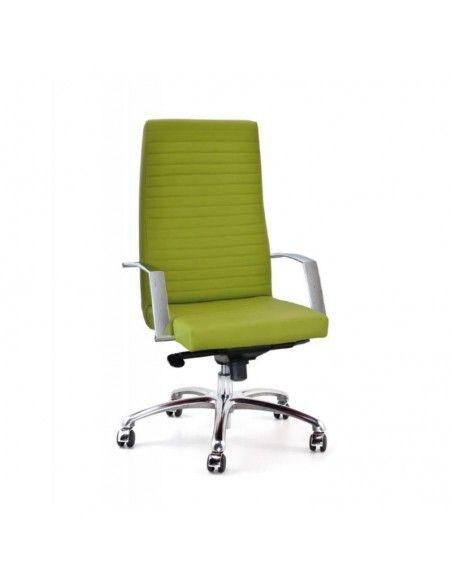 Sillon oficina Lena de Tecno-Ofiss en polipiel verde