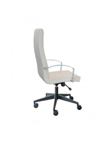 Sillon oficina Lena de Tecno-Ofiss en polipiel blanca
