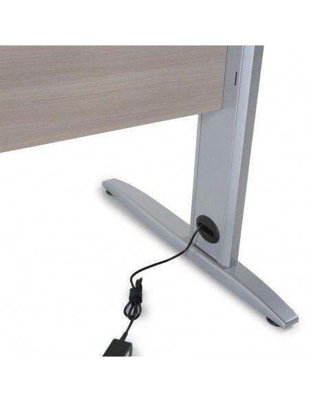 detalle pasacables interior pata mesa oficina Aneto de JGorbe
