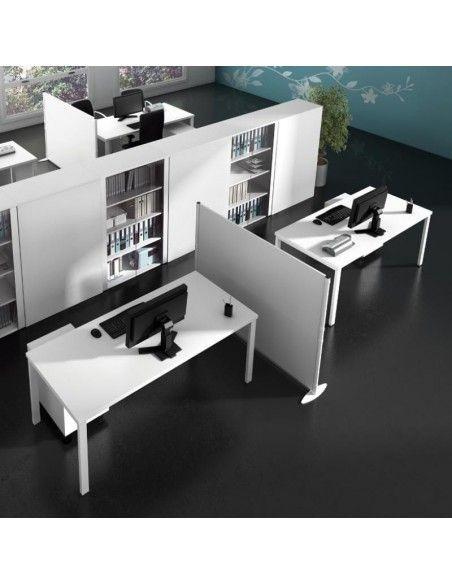 mesas de oficina blancas serie portico de jgorbe