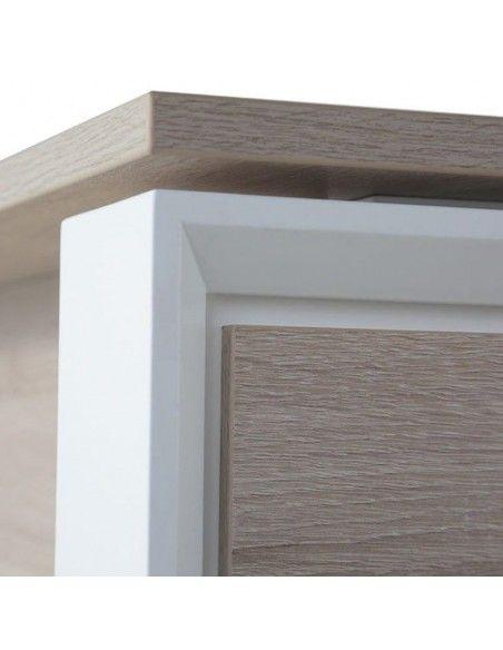 Detalle pata mesa despacho Omega de JGorbe en olmo y blanco