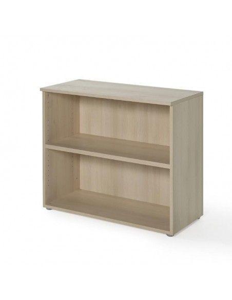 Estantería de madera baja con 1 estante en acacia de jgorbe