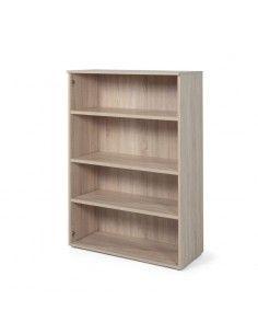 estantería de madera color acacia de jgorbe