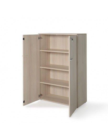 Armario oficina con puertas, cerradura y estantes de JGorbe en color acacia