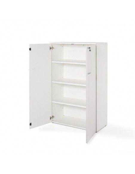 Armario oficina con puertas, cerradura y estantes de JGorbe en blanco