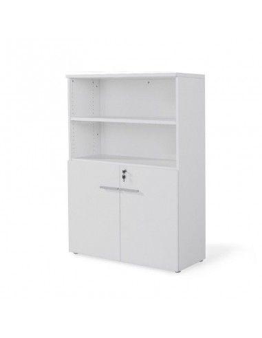 armario de madera con puertas bajas en color blanco de jgorbe