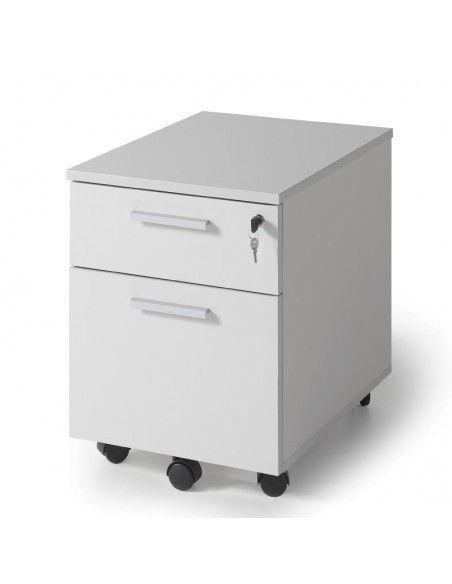 Cajonera con ruedas con 1 cajón y archivador de JGorbe en gris claro