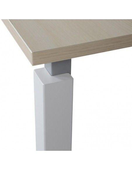 detalle pata metalica mesa de oficina eco