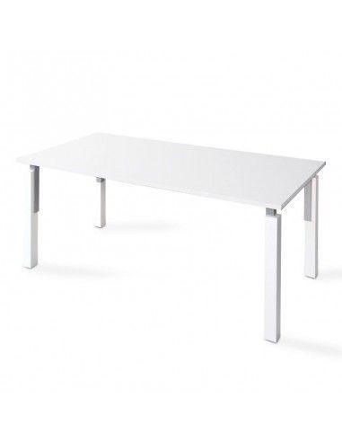 Mesa escritorio oficina blanca serie Eco de JGorbe