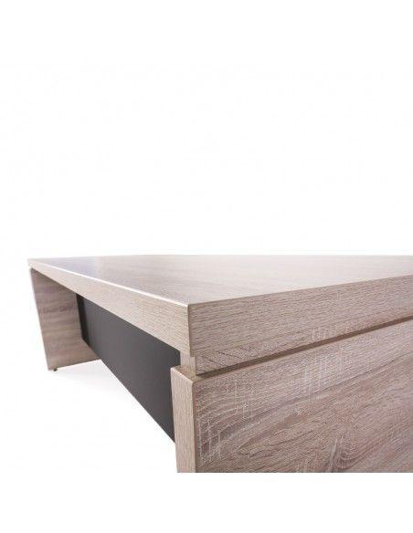 detalle Mesa despacho serie G3 de JGorbe en olmo con faldón color negro