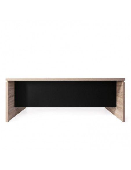 Mesa despacho serie G3 de JGorbe en olmo con faldón color negro