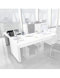 Ala auxiliar mesa despacho Líder en blanco