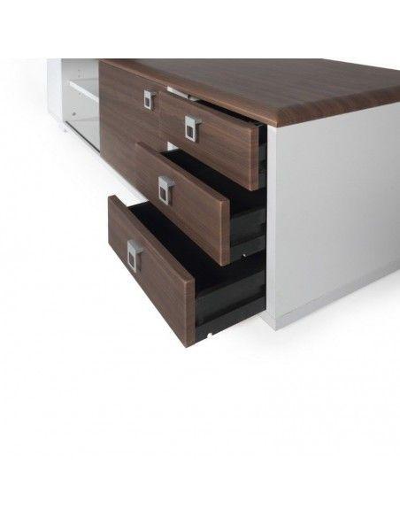 Detalle cajones mueble auxiliar mesa despacho Líder de JGorbe
