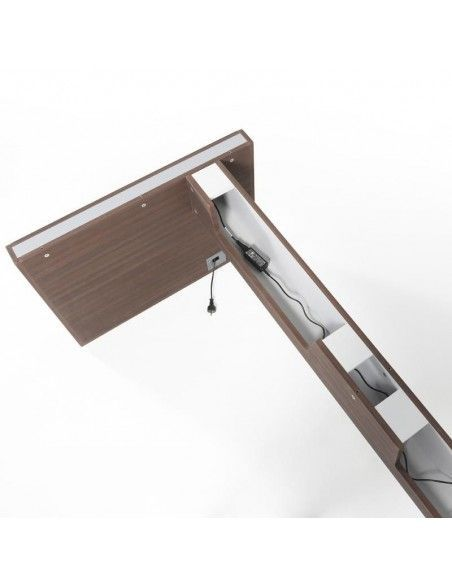 Estructura nogal oscuro de mesa despacho Líder de JGorbe