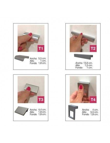Opciones de tiradores para el mueble de oficina con puertas bajas benelux lider jgorbe