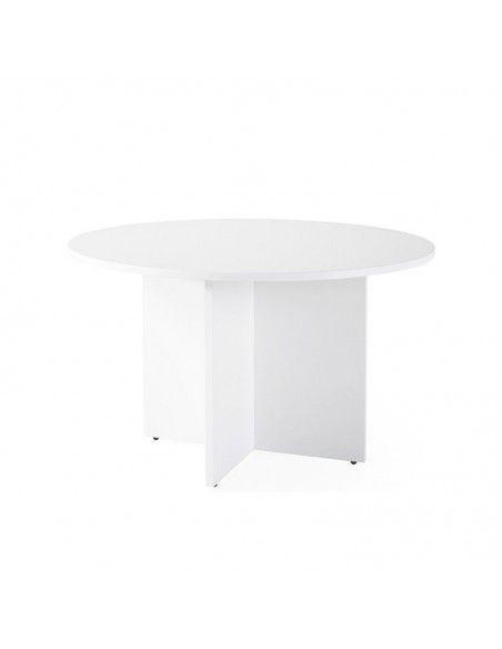Mesa de reuniones redonda blanca de JGorbe