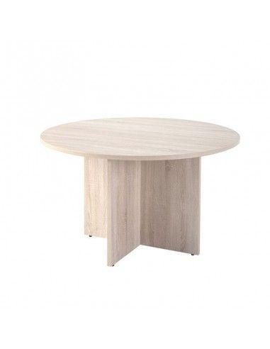 mesa redonda de reunion pie aspa color jgorbe