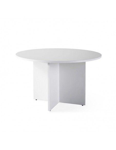 Mesa de reuniones redonda de JGorbe en gris claro