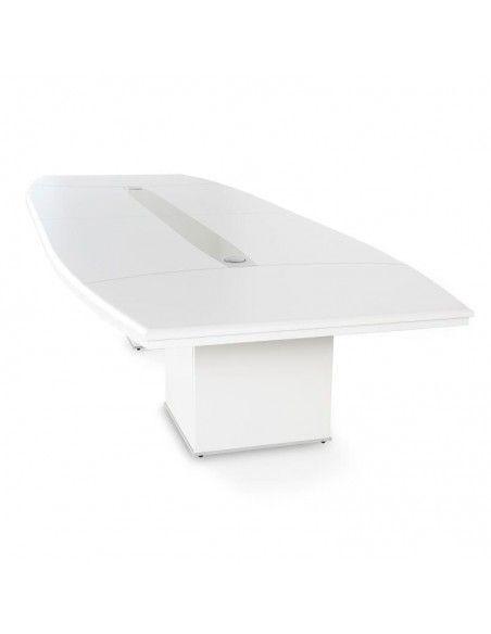 mesas de sala de juntas rectangulares con enchufes lider jgorbe