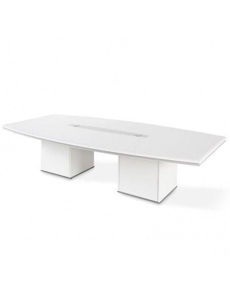 Mesa de reuniones ovalada Líder de JGorbe en blanco