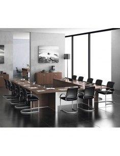 Mesa de reuniones de JGorbe en nogal oscuro