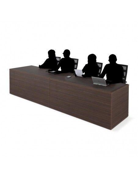 Mesa de ponencias JGorbe en nogal oscuro