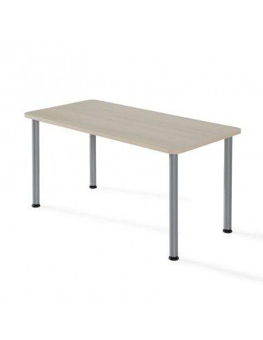 Mesa de estudio rectangular de JGorbe en acacia