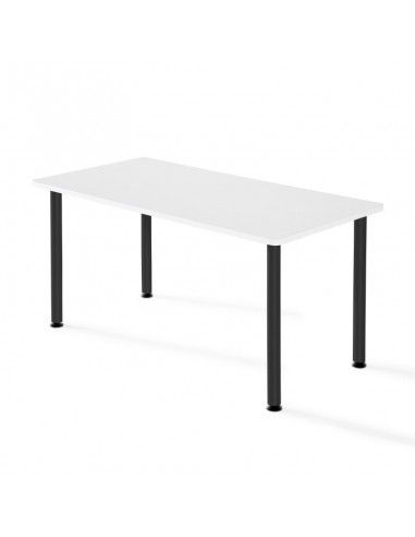 Mesa de estudio rectangular de JGorbe en blanco