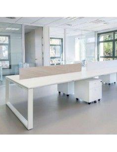 Panel separador para mesa de oficina trabajo en grupo Skala de JGorbe