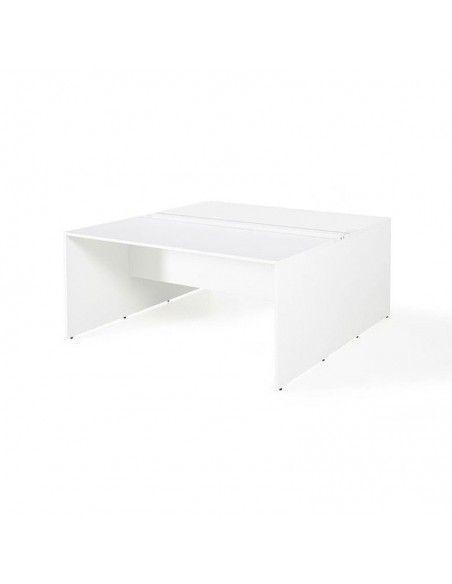 Mesa oficina multipuesto de JGorbe en color blanco