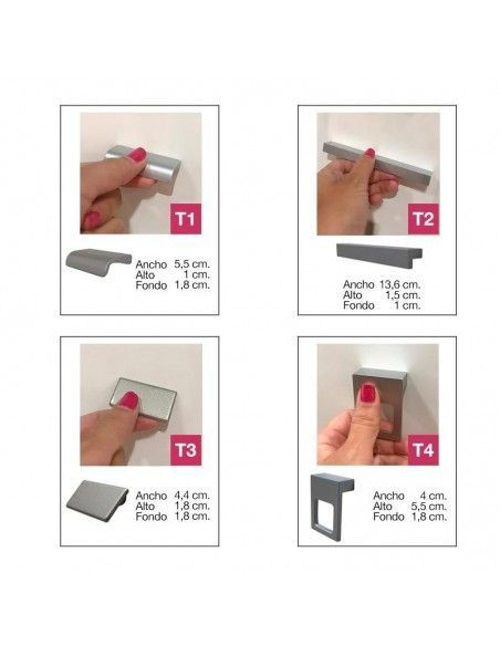 catálogo tiradores disponibles armario