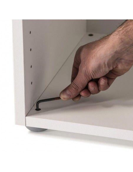 Detalle niveladores armario oficina bajo serie G3 de jgorbe