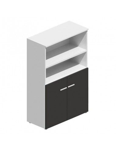 Armario oficina madera mediano serie G3 de jgorbe en blanco y negro