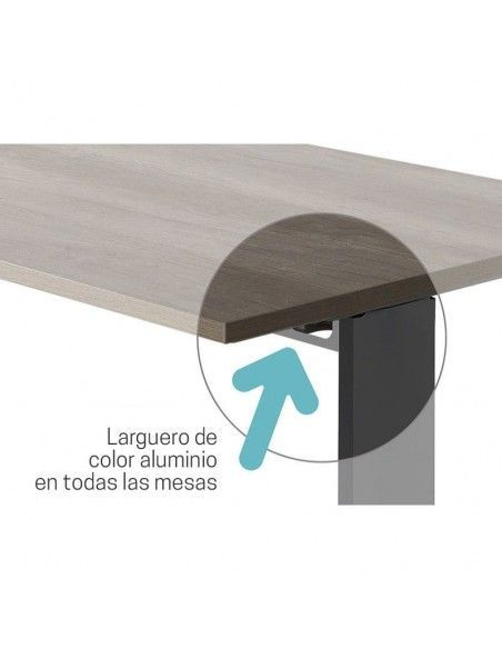 Detalle larguero pasacables mesa escritorio Carving de jgorbe
