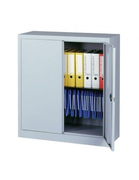 Armario metalico taller puerta abatible de 1 estante de Gapsa en gris