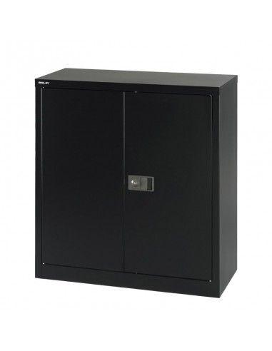 Armario metalico taller puerta abatible de 1 estante de Gapsa en negro