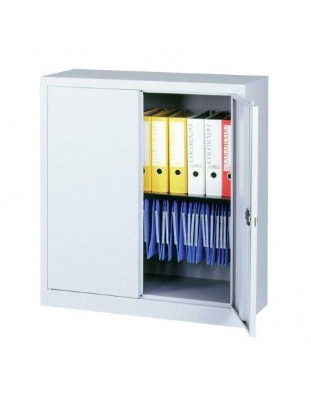 Armario metalico taller puerta abatible de 1 estante de Gapsa en blanco