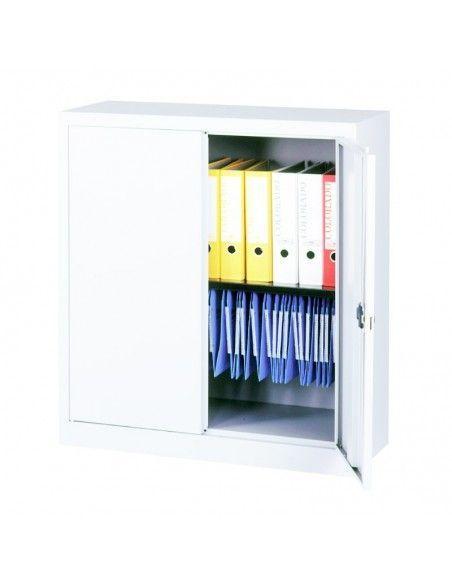 Armario metalico taller puerta abatible de 1 estante de Gapsa en super blanco